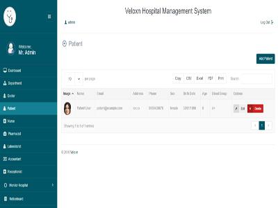 Veloxn : Hospital Management System